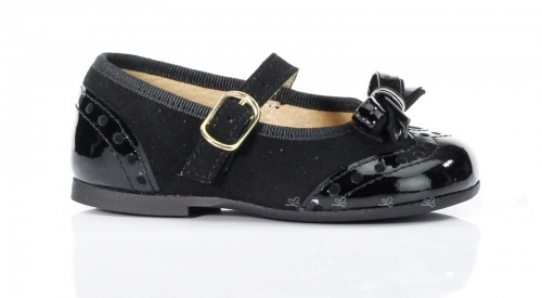 Black Patent and Suede Mary Janes