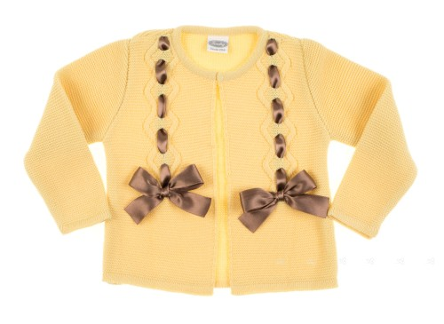 Yellow Bow Cardigan