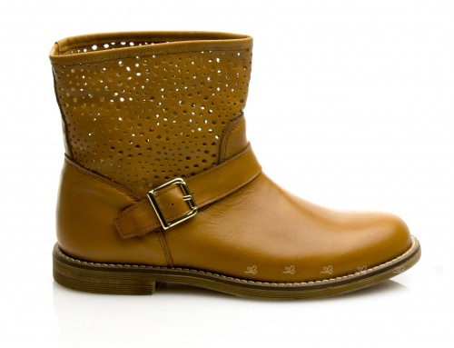 Short Laser Cut Boots with buckle