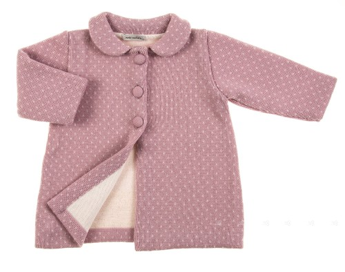 Abrigo rosa palo bebe