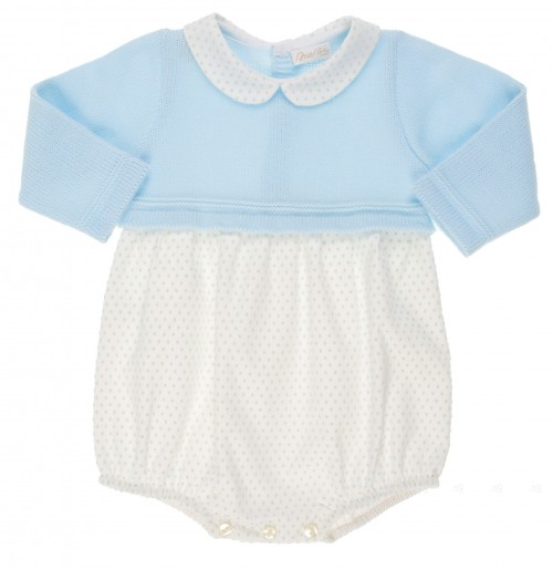 Blue knitted baby shortie