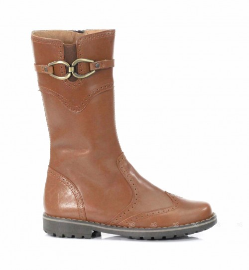 Tan Leather Calf Boots