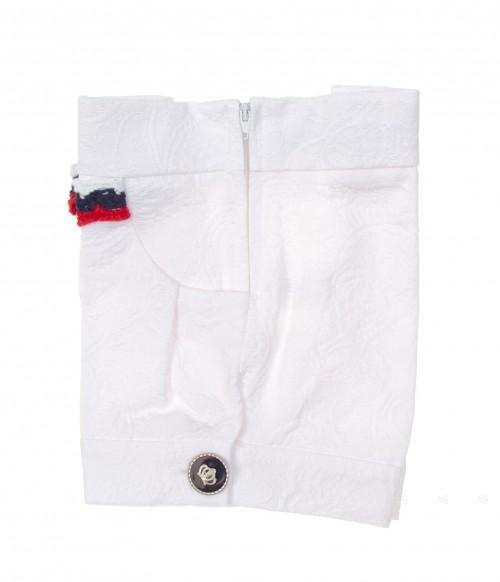 Navy white brocade Short