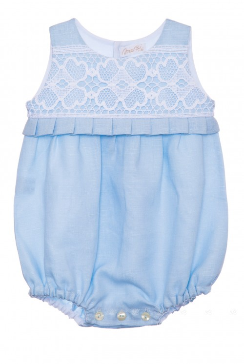 Blue & White Linen Lace Shortie