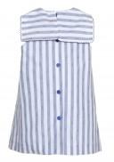 Blue & White Striped Anchor Dress